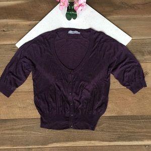 Adidas Stella McCartney purple cardigan button M